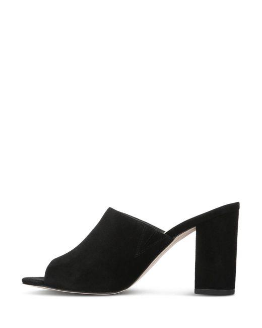 3d1250b1455 ... Sam Edelman - Black Orlie Block-heel Suede Mule Sandals - Lyst ...