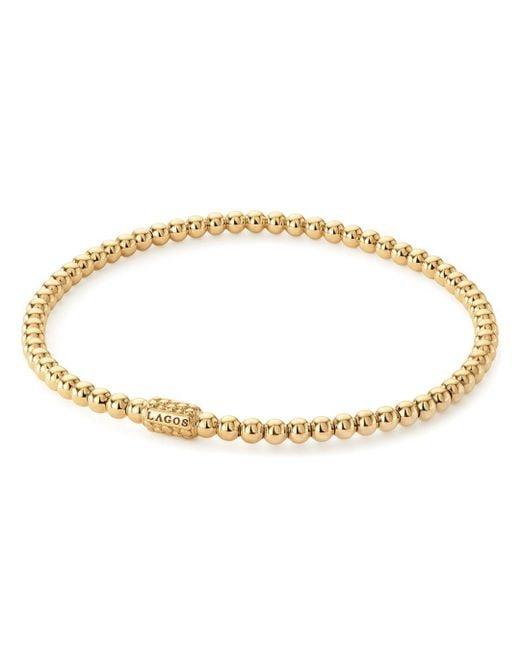 Lagos Metallic Caviar Gold Collection 18k Gold Beaded Bracelet