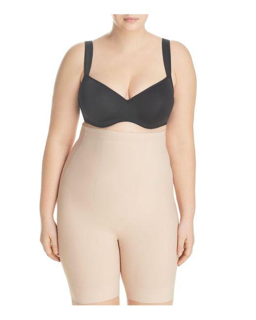 Tc Fine Intimates | Natural Wonderful Edge Full-figure Hi-waist Thigh Slimmer Shorts | Lyst