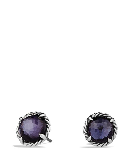 David Yurman - Metallic Châtelaine Earrings With Black Orchid - Lyst