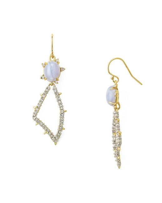Alexis Bittar | Metallic Swarovski Crystal-encrusted Pavé Petal Drop Earrings | Lyst