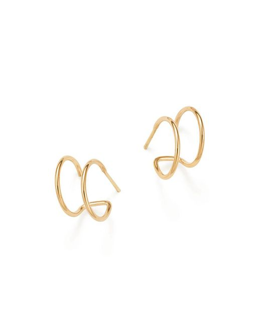 Zoe Chicco - Metallic 14k Yellow Gold Double Hoop Earrings - Lyst