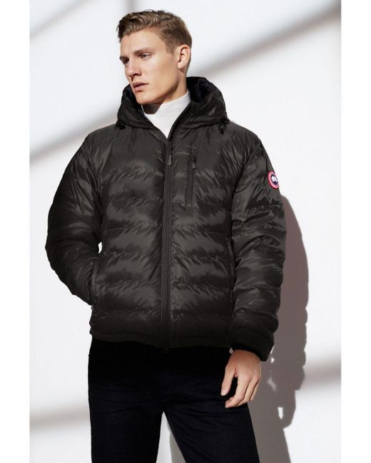 Canada Goose Lodge Hooded Down Jacket In Black For Men