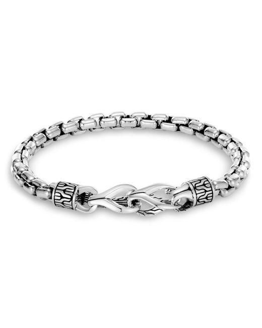 John Hardy Metallic Men's Classic Chain Silver Bracelet for men
