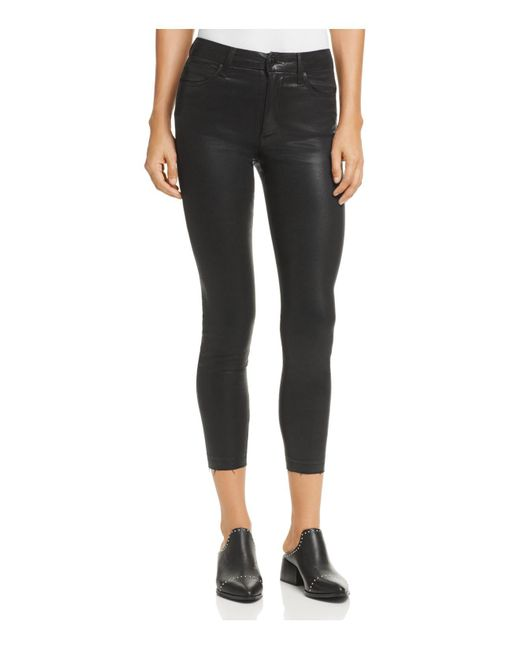 Joe's Jeans - The Charlie Coated Ankle Skinny Jeans In Black - Lyst