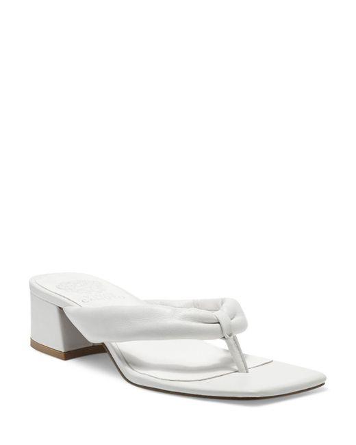Vince Camuto White Sabrinda Thong Sandals
