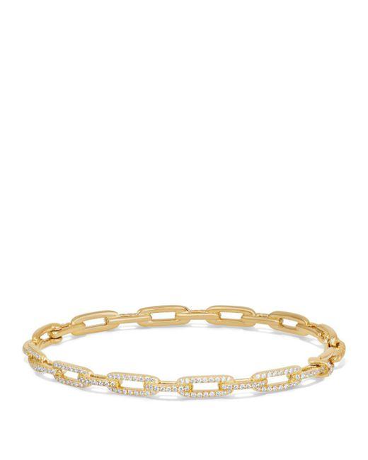 David Yurman - Metallic Stax Chain Link Bracelet With Diamonds In 18k Gold - Lyst