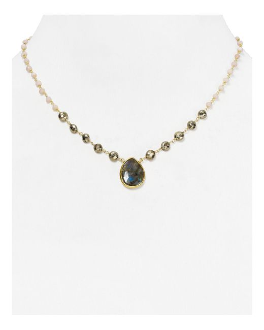 Ela Rae | Metallic Ara Opal Pendant Necklace, 16.5"