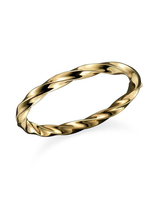 Roberto Coin | Metallic 18k Yellow Gold Wave Bangle | Lyst