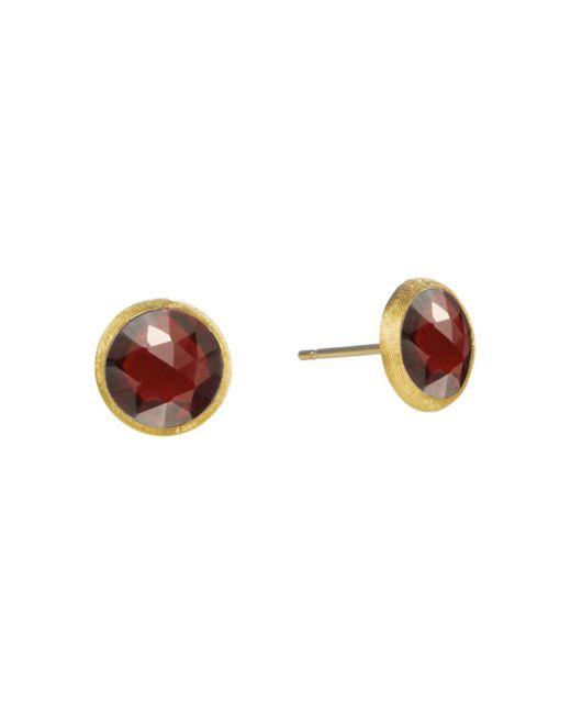 Marco Bicego Metallic 18k Yellow Gold Jaipur Garnet Stud Earrings