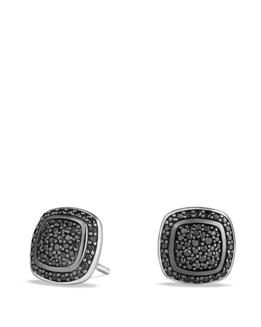 David Yurman - Metallic Albion Earrings With Black Diamonds - Lyst