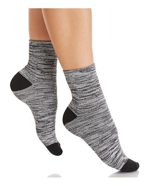 Hue - Black Super Soft Cropped Socks - Lyst