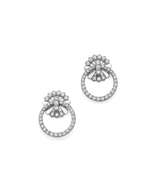 KC Designs | 14k White Gold Diamond Circle Earrings | Lyst