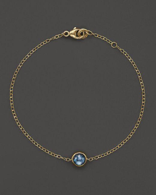 Ippolita - Metallic 18k Gold Mini-lollipop Bracelet In London Blue Topaz - Lyst