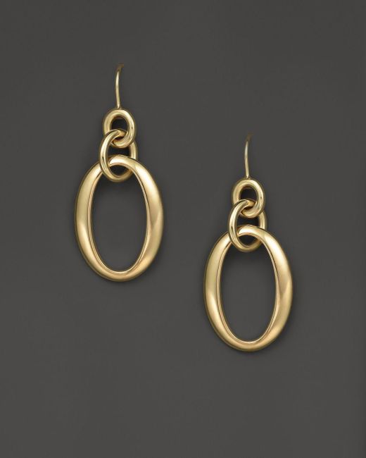 Ippolita Metallic 18k Gold Glamazon Short Oval Link Earrings