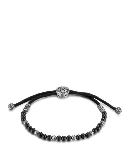 John Hardy - Men's Sterling Silver Classic Chain Beaded Bracelet With Black Onyx for Men - Lyst