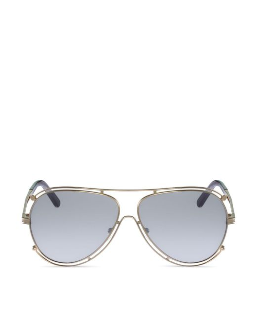 Chloé | Metallic 61mm | Lyst
