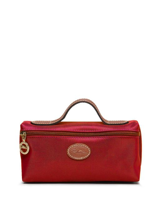 Longchamp Pink Le Pliage Nylon Cosmetics Case