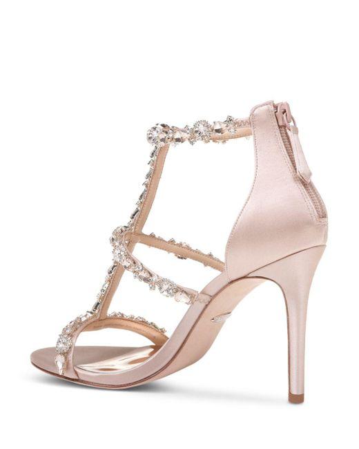 66d2c6edd8b Women's Querida Embellished Metallic Satin High - Heel Sandals