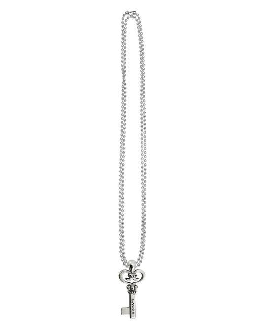 Lagos Metallic Signature Sterling Silver Key Pendant Necklace