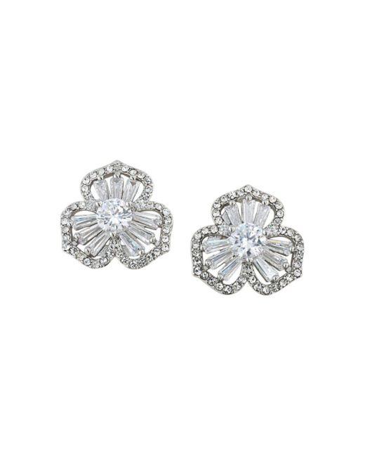 Carolee - Metallic Pavé Flower Stud Earrings - Lyst