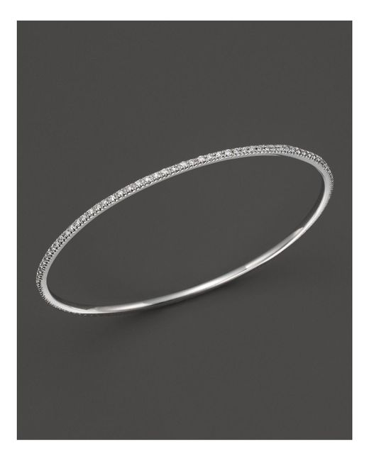 KC Designs | Diamond Bangle In 14k White Gold | Lyst