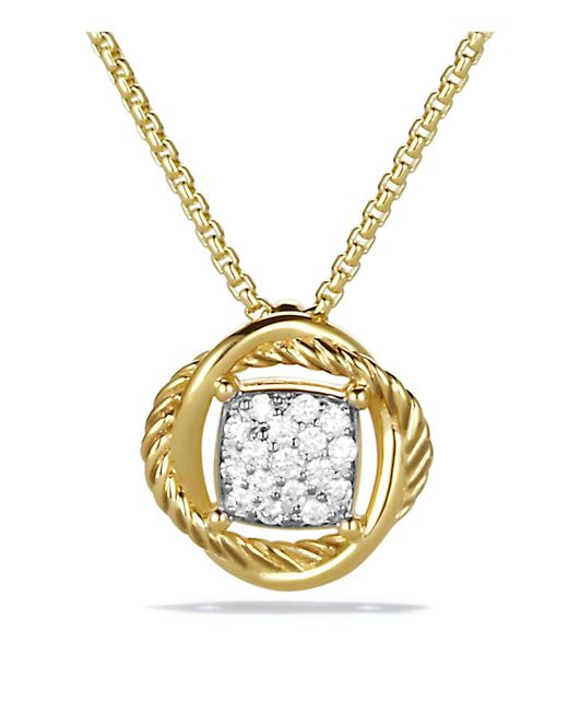 David Yurman | Yellow Infinity Pendant With Diamonds On Chain | Lyst