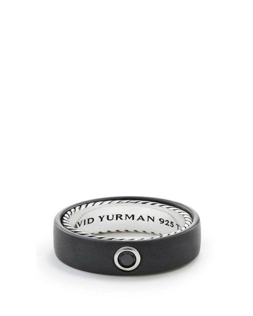 David Yurman - Men's Streamline Band Ring With Black Diamond for Men - Lyst