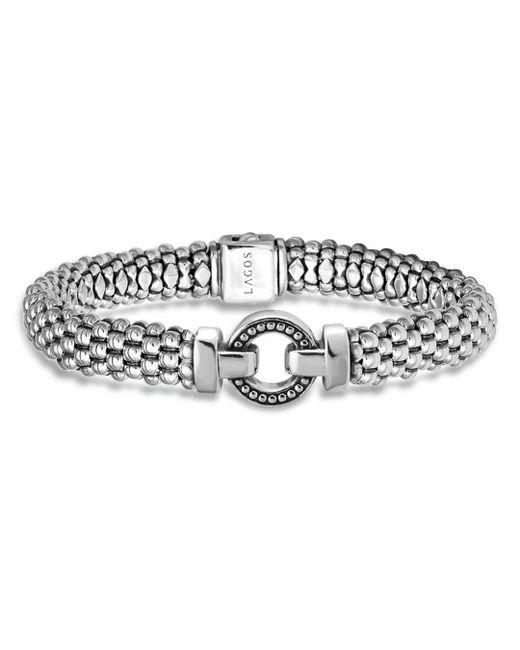 Lagos - Metallic Sterling Silver Beaded Bracelet - Lyst
