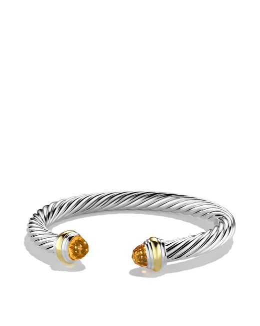 David Yurman - Metallic Cable Classics Bracelet With Citrine And Gold - Lyst