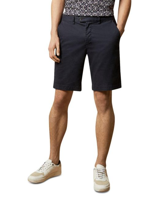 Ted Baker Blue Buenose Slim Fit Chino Shorts for men