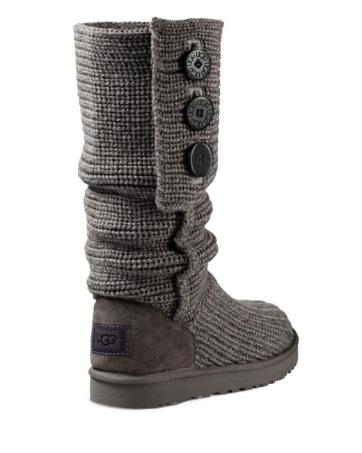 d01e17481c3 Women's Gray ® Classic Cardy Button Detailed Knit Boots