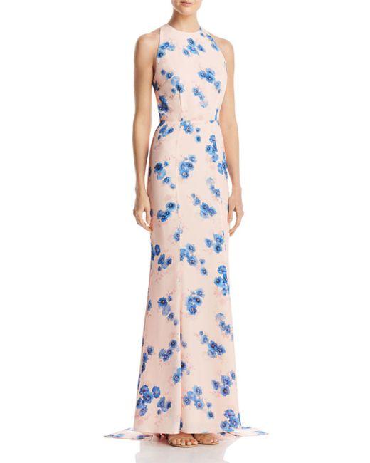 Jarlo - Pink Blanche Floral Column Gown - Lyst