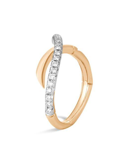 John Hardy - Metallic 18k Yellow Gold Bamboo Pavé Diamond Ring - Lyst