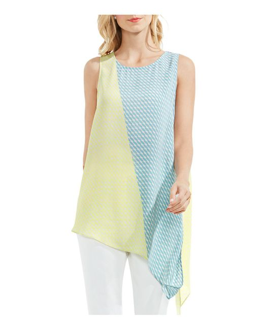 Vince Camuto | Blue Sleeveless Modern Slant Top | Lyst