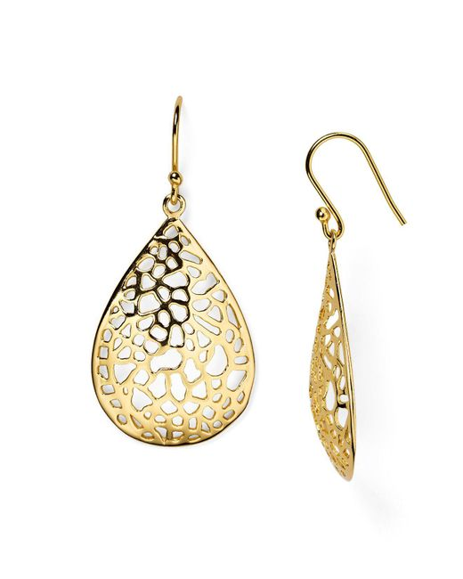 Argento Vivo | Metallic Lace Teardrop Earrings | Lyst