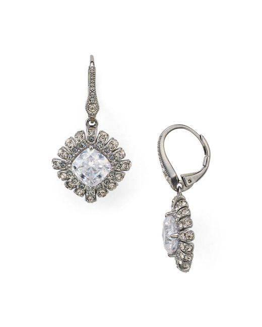 Nadri | Metallic Gladys Leverback Earrings | Lyst