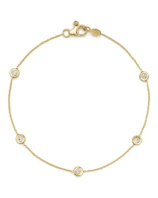 Roberto Coin - Metallic 18k Yellow Gold Five Station Bracelet With Diamonds - Lyst