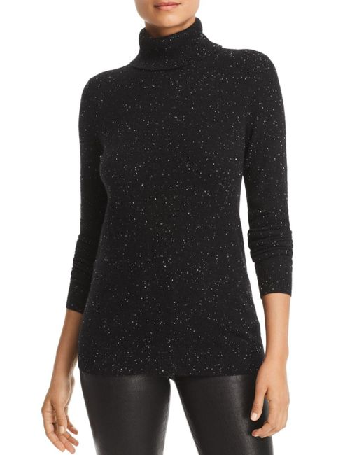 C By Bloomingdale's Black Cashmere Turtleneck Sweater
