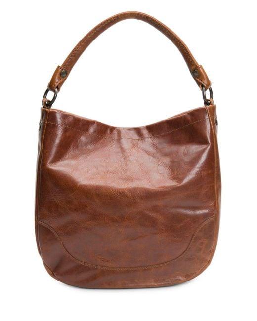 Frye Brown 'melissa' Washed Leather Hobo