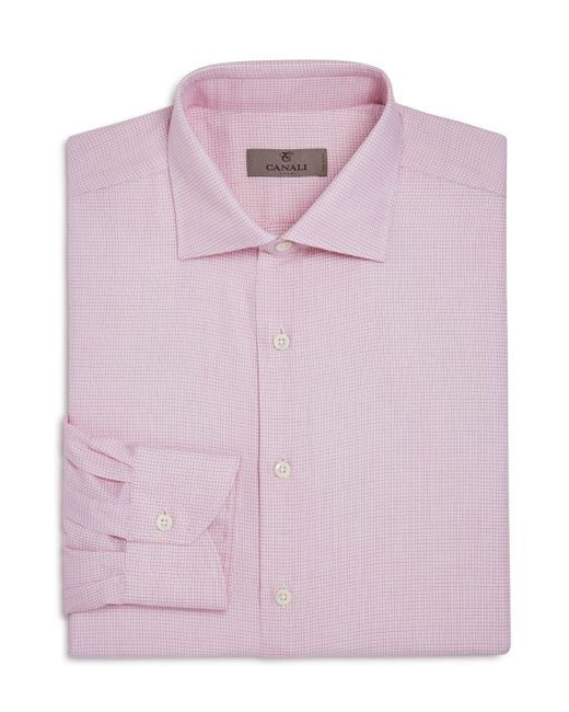 Canali | Red-weave Regular Fit Dress Shirt for Men | Lyst