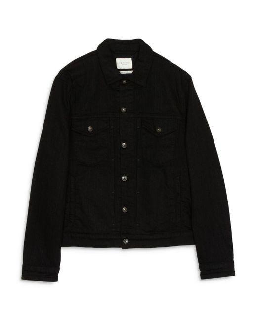 Rag & Bone Definitive Jean Jacket Classic Fit Black Jean Jacket for men
