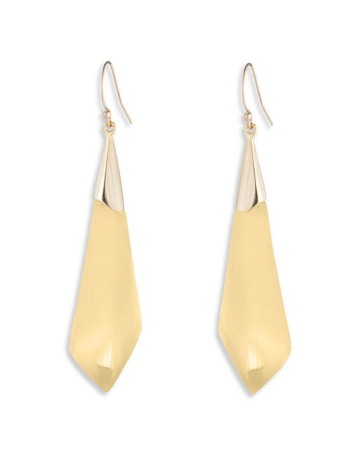 Alexis Bittar Metallic Essentials Faceted Drop Earrings
