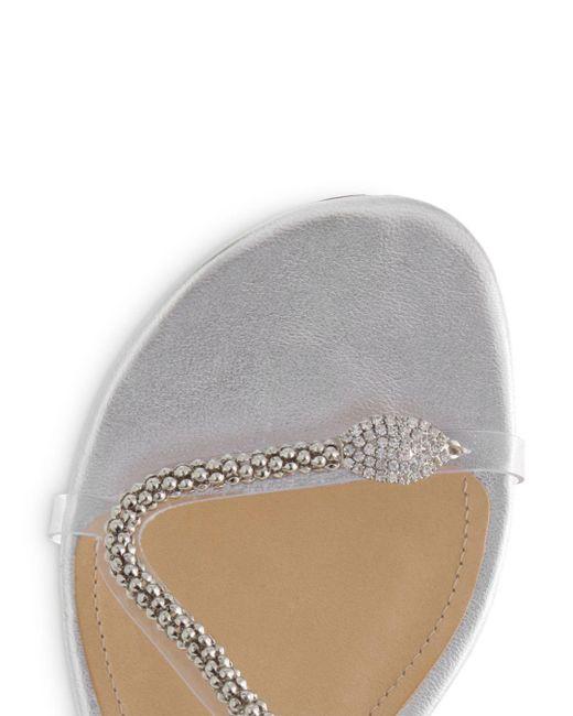 4bbda02ed Lyst - Schutz Gabbyl Embellished Sandals in White - Save 30%