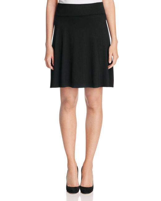 Three Dots - Black Foldover Skirt - Lyst