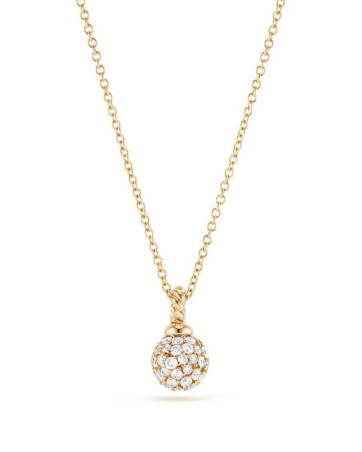David Yurman - Metallic Solari Pavé Pendant Necklace With Diamonds In 18k Gold - Lyst