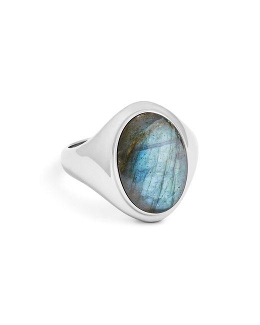 Shinola - Metallic Sterling Silver & Labradorite Signet Ring - Lyst