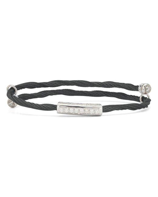 Alor - Black Cable Bangle Bracelet With Diamonds - Lyst