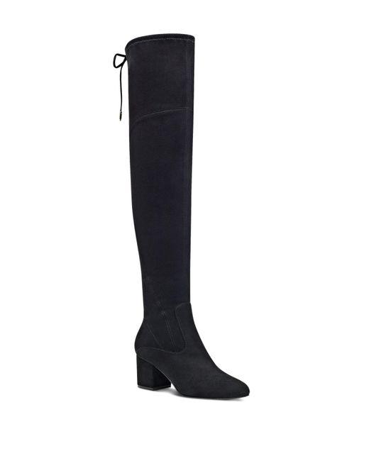Ivanka Trump - Black Pelinda Faux Suede Over-the-knee Boots - Lyst