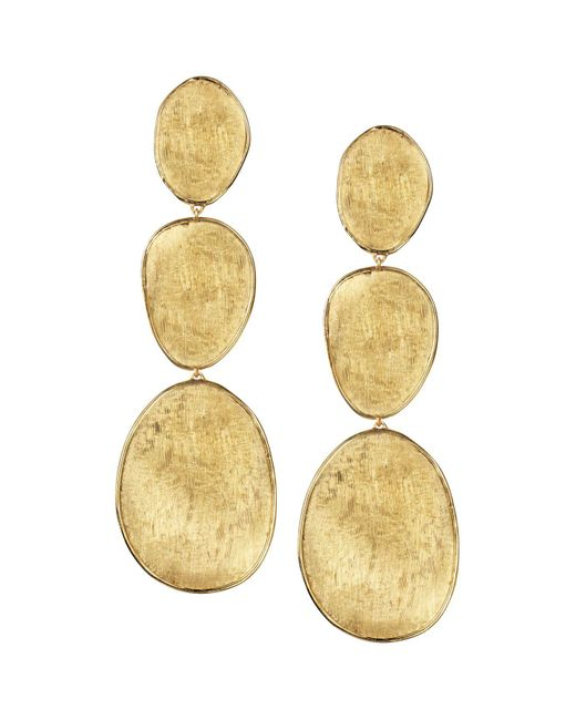 Marco Bicego | Metallic 18k Yellow Gold Lunaria Three Drop Earrings | Lyst